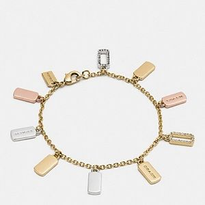 Coach hang tag Charm bracelet